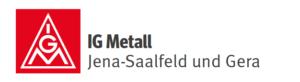 Logo IG Metall Gera und Jena-Saalfeld